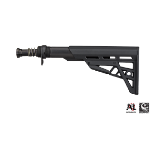 ATI - AR-15 TactLite Six Position Mil-Spec Stock with Military Buffer Tube Assembly in Destroyer Gray